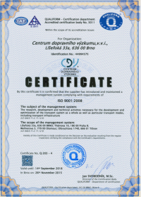 Certificate ISO 9001:2015 - 2018