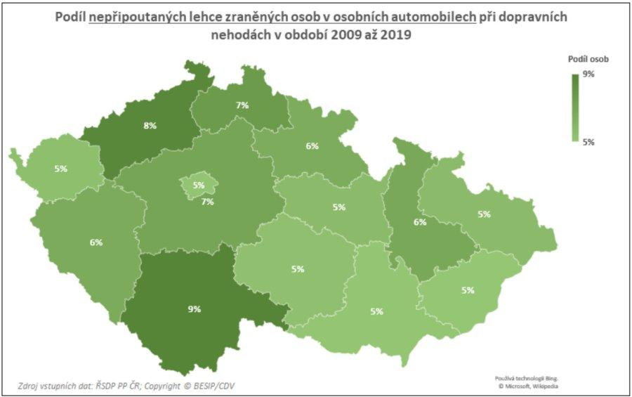 TZ: Na českých silnicích zemře ročně 80 nepřipoutaných osob 13